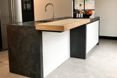 Keuken beton stuc
